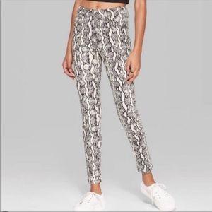 Wild Fable Snakeskin Printed Skinny Jeans